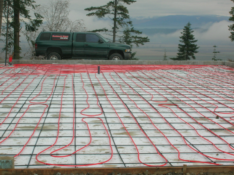 shop with Radiant Heat